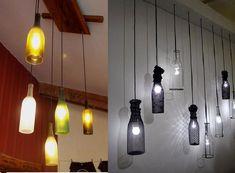 ¡Hazlo tú mismo! Reutiliza botellas de vidrio y crea rusticas lámparas - VeoVerde