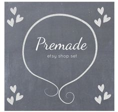 Hey, I found this really awesome Etsy listing at https://www.etsy.com/listing/171615384/premade-etsy-shop-set-etsy-banner-avatar