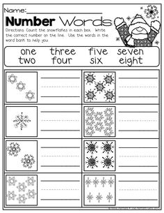 Number Words for winter!