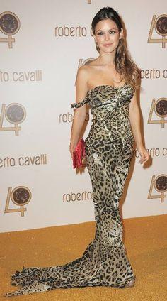 498b6ba7239f Rachael Bilson in Roberto Cavalli s Silk-chiffon Leopard-print Gown. love  her- mbl