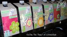 DIY Water Bottle Teacher Appreciation Gifts - I WANT TO DO THIS FOR MY TEACHERS THIS YEAR!