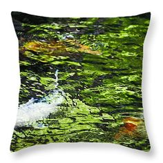 "Koi Pond 14"" x 14"" Throw Pillow by Christi Kraft, $37.  Multiple sizes available."