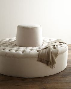 Old Hickory Tannery Audrey Tufted Conversation Settee from Horchow. Saved to Home Decor.