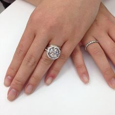Just delivered this amazing custom vintage cushion cut diamond engagement ring to a very happy customer!! Absolutely stunning!! @Shanna Winberg #amazing #custom #ring #vintage #love #sparkle #bling #gorgeous #diamonds #singlestone