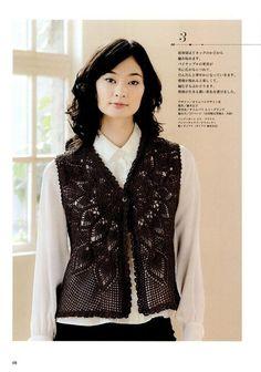 Apaixonada por crochê: Coletes Modelo Japonês