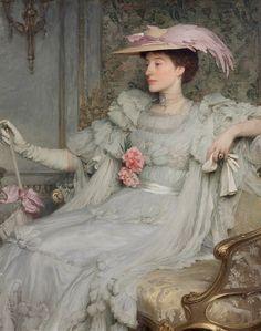 https://flic.kr/p/qHhbLo   dicksee, frank - Portrait of Lady Hillingdon   Sir Frank Dicksee 1853-1928 England