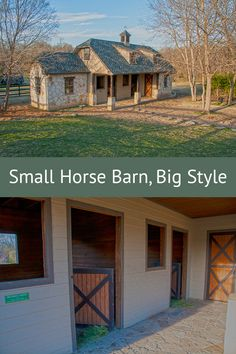 A charming two stall barn in Texas proves big isn't always better.