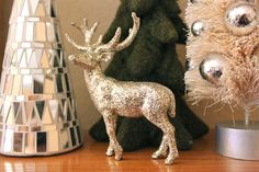 DIY Martha Stewart Glitter Deer — Leopard and Plaid