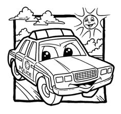 police car coloring pages for kids enjoy coloring - Police Car Coloring Pages
