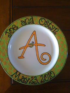 Personalized Engagement/Wedding/Anniversary Plate. $65.00, via Etsy.