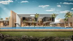 NE Gorou Banda: A contemporary home situated on the banks of the Niger River. The spatial experience of the house is based on integrated family living...