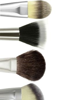 You have your makeup, but can you apply it? Here is a look at the main shapes of makeup brushes and what they should be used for.