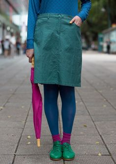 Solid-colour skirt – Skirts & dresses – GUDRUN SJÖDÉN – Webshop, mail order and boutiques | Colourful clothes and home textiles in natural materials.