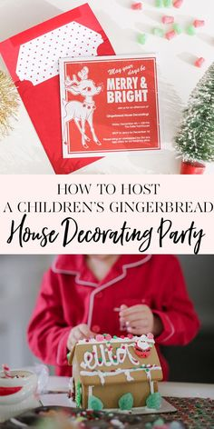 How To Host a Children's Gingerbread House Decorating Party | Years ago I hosted a gingerbread house decorating party for my kids and their friends. This year I decided to try it again except this time as a pj's and breakfast party. It's the perfect way to celebrate the season with friends while letting the kids eat, create and play! || JennyCookies.com