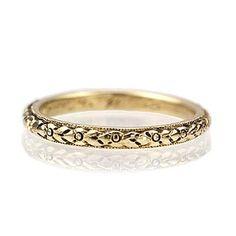 Art Deco Wedding Band - VR140507-05