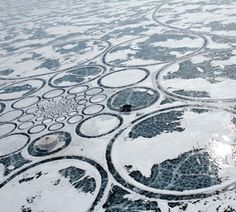 Giant ice circles, Siberia. Land art, Jim Denevan.