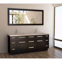 Design Element Moscony Espresso 72-inch Double Sink Vanity Set