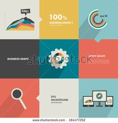 Minimalistic flat tab, diagram, scheme for infographics. Can be used for print or web page. Simply editable futuristic design with icons.