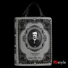 'Edgar Allan Poe' book bag - The Dark Store™