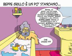 """Beppe Grillo """"chi di epurazione ferisce""""… #satira"""