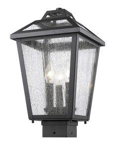 Z-Lite 539PHMS-BK 3 Light Outdoor Post Mount Light