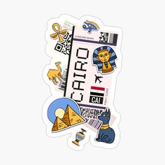 Journal Stickers, Laptop Stickers, Cool Illusions, Cairo, Top Artists, Sticker Design, Sell Your Art, Bullet, Boarding Pass