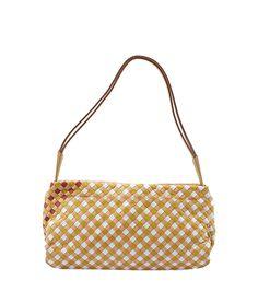 Bottega Veneta Beige Multi Color Intrecciato Leather Shoulder Bag