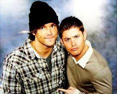 Jensen Ackles & Jared Padalecki #Supernatural funny picture of them :)