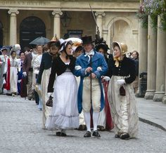 Oh to see the Jane Austen Festival processional in Bath, England