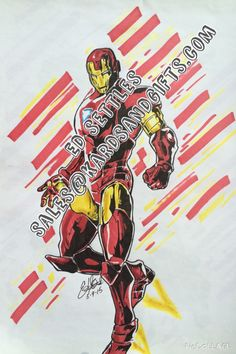 Iron Man is a registered trademark of Marvel comics. The red and yellow contrast… - Visit to grab an amazing super hero shirt now on sal