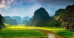 Tam Coc Vietnam Rizieres