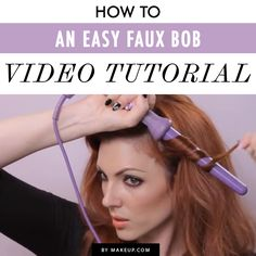 easy faux bob video tutorial #hair