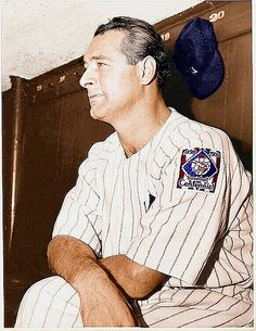 In New York Yankees legend Lou Gehrig is elected to the Baseball Hall of Fame. The five-year waiting rule is waived due to his ALS diagnosis. Baseball Dugout, Sports Baseball, Angels Baseball, Baseball Stuff, Baseball Cards, Lou Gehrig, Mlb Players, Baseball Players, Batting Average