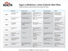 Printable Diabetic Meal Plans | ... meal minder for diabetes ...