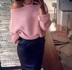 Womens Slash Neck Elegant Comfortable Casual Sweaters Pullover Top