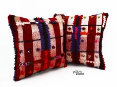 Engin / SET 2 Piece Hand Woven Kilim Pillow Cover by pillowcome, $90.00