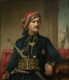 'An Armenian in late-Ottoman costume'. Portrait by Edward Ludlow Mooney, Armenian Men, Armenian History, Armenian Culture, Turkish Men, Turkish Fashion, Sultan Ottoman, Ottoman Turks, Exotic Art, Oil Portrait