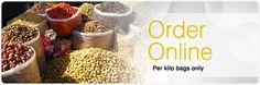 www.komatifoods.co.za - Buy organic dried fruit, nuts, legumes and grains online.  Based in Cape Town. Vegan Shopping, Dried Fruit, Cape Town, Grains, Shops, Organic, Breakfast, Food, Morning Coffee