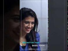 Unnai Nenachi Urugurendi Status Song Abinaya Status Video Mugen Rao Songs Status Video
