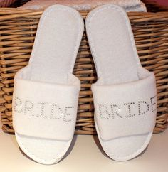 Personalised Slippers Wedding Spa Party Gift by giftedboxes, £6.99