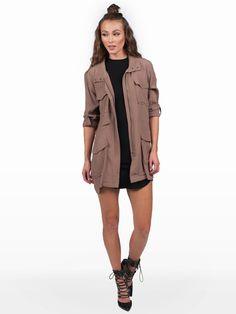 Tamia Taupe Jacket