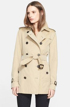 Burberry London 'Kensington' Short Trench Coat available at #Nordstrom