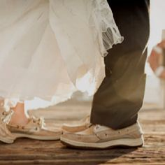 Sperry boat shoes with wedding dress