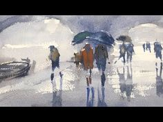 Advancing with Watercolor: Developing a Motif - Edges - YouTube