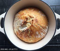 Chleb z garnka, czyli chleb z chrupiącą skórką - Primi Piatti No Knead Bread, Cooking Recipes, Fit, Shape, Recipes