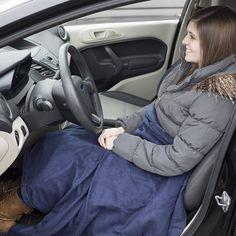 Stalwart 12 Volt Blue Plaid Electric Blanket For Automobile Automotive