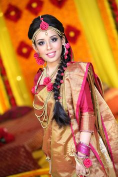 Floral Jewellert at A Pink and Yellow Mehendi Event : Bride Zarneen