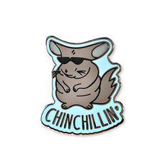 chinchillin   enamel pin Chinchilla enamel pin