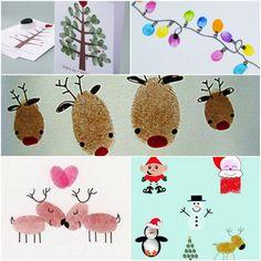 Fingerabdrücke Weihnachten: