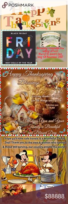 🎶BACK FRIDAY STARTS HERE✔️ HURRY‼️‼️ ❤The gift of life is the best blessing of all. May you have a wonderful and meaningful Thanksgiving❤. Happy Thanksgiving to all of my PFF❤️. Bags